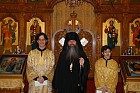 Readers John and Paul with Bishop Tikhon.