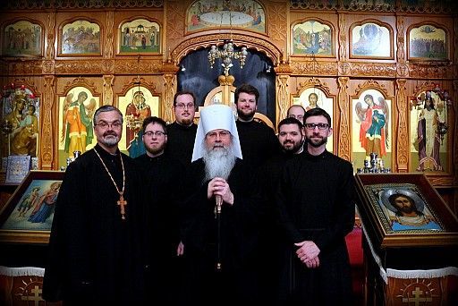 '13-'14 Members of the St. Tikhon's Mission Choir with the President and Dean of the Seminary